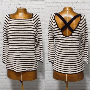 Anthro Lauren Moffatt Striped Sweater EUC